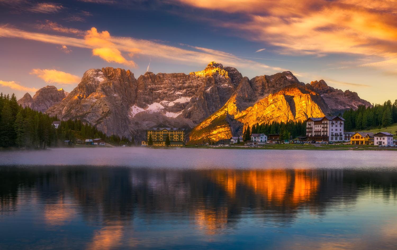 Misurina lake at sunrise... by Liubomir Paut