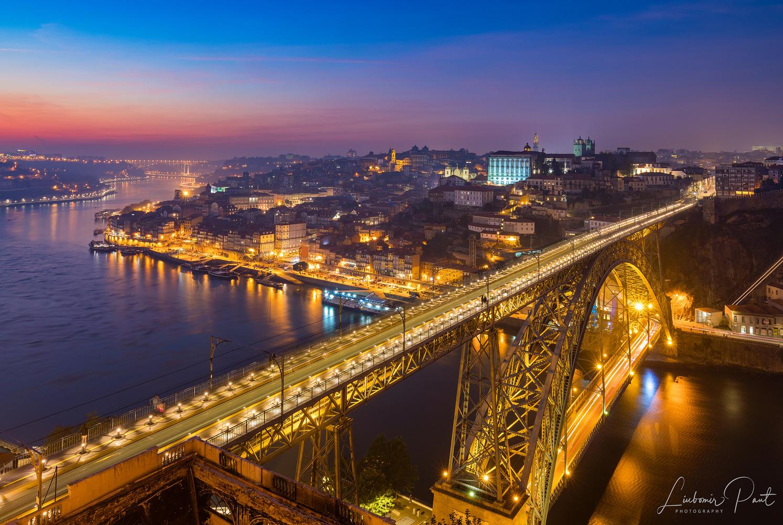 Porto at sunset... by Liubomir Paut