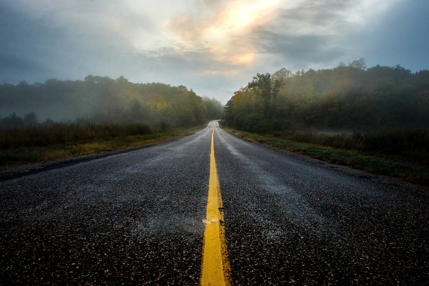 Ardoch road by Michael Higgins