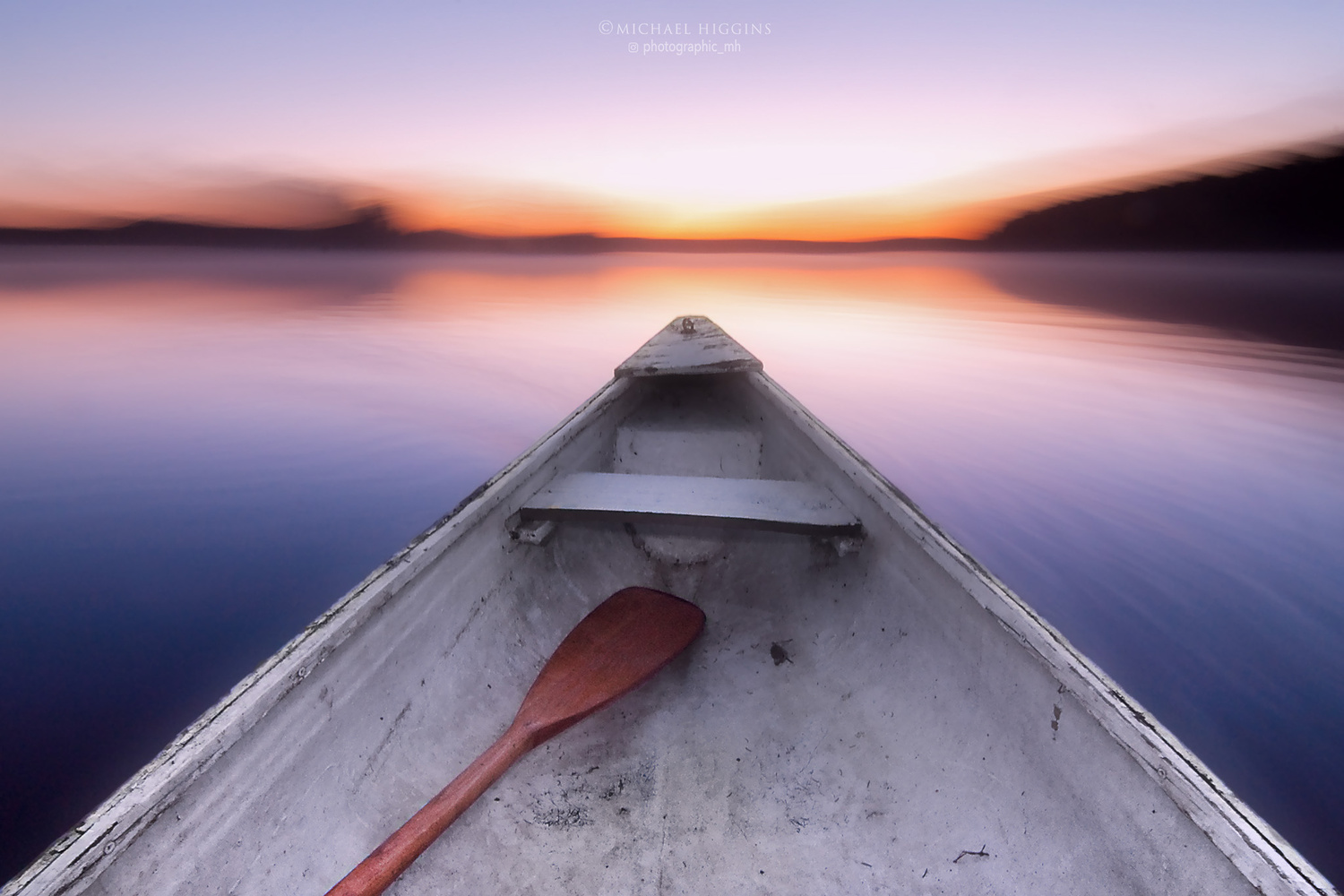 Drifting in an old, crooked canoe by Michael Higgins