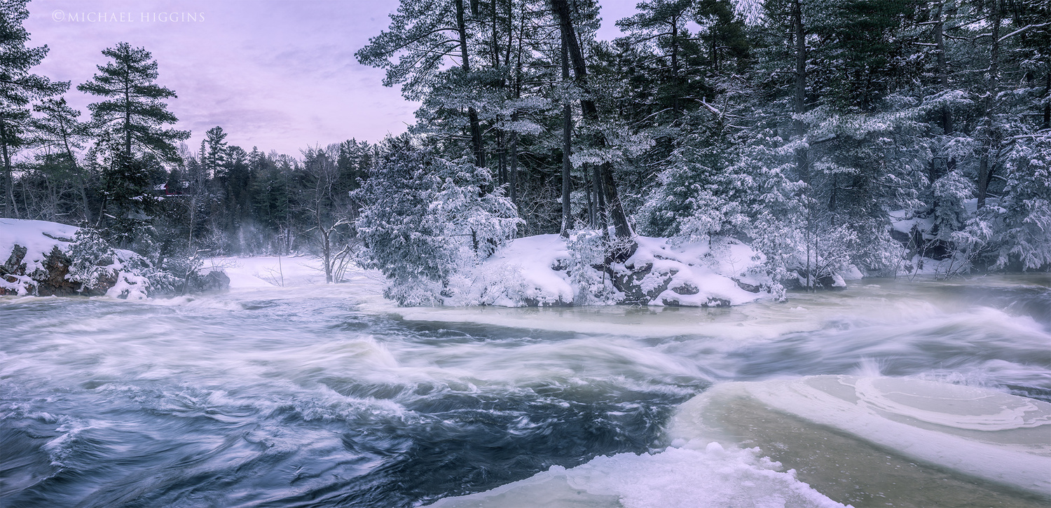 The frigid little Mississippi by Michael Higgins