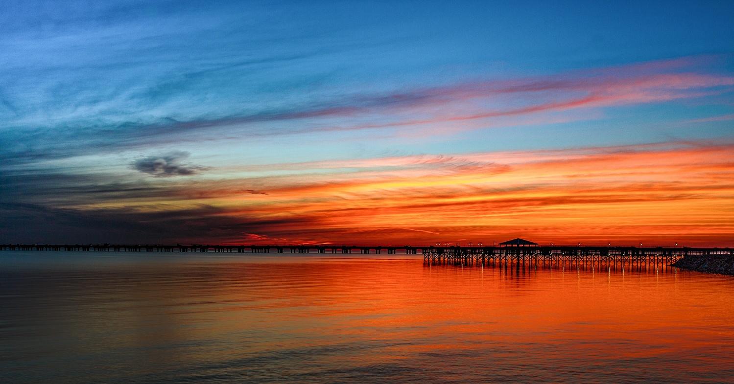 Lake Pontchartrain Sunset by David Pavlich