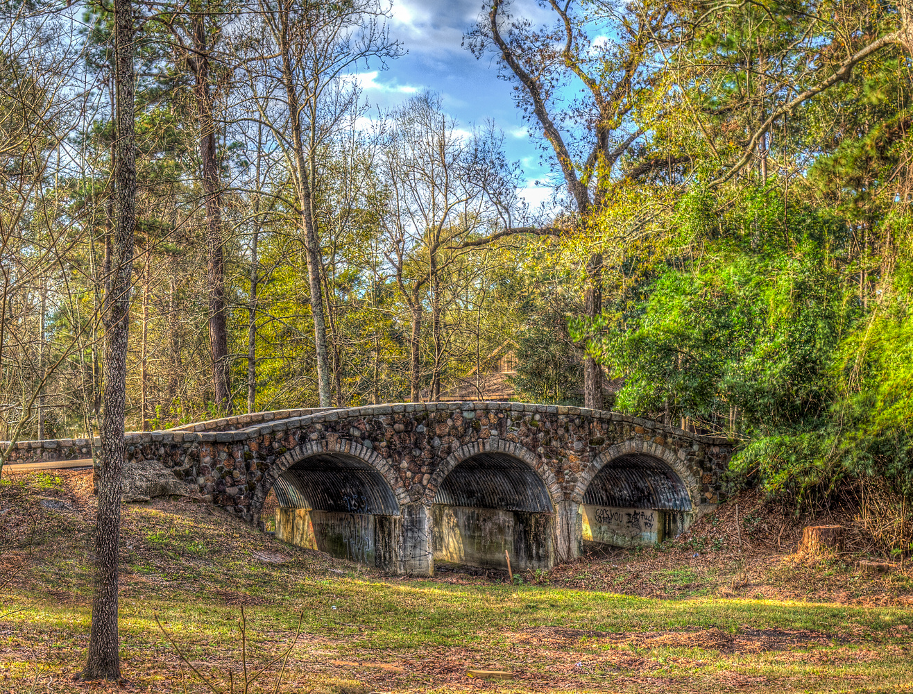 Stone Bridge in Mandeville, LA by David Pavlich