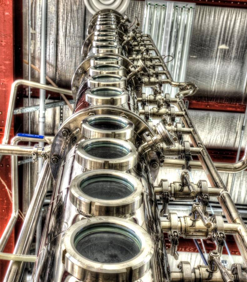 Distillery tower, tighter crop by David Pavlich