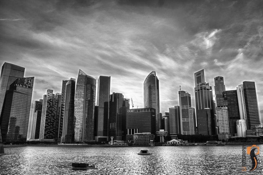 Black & White Cityscape by SJ Fotography