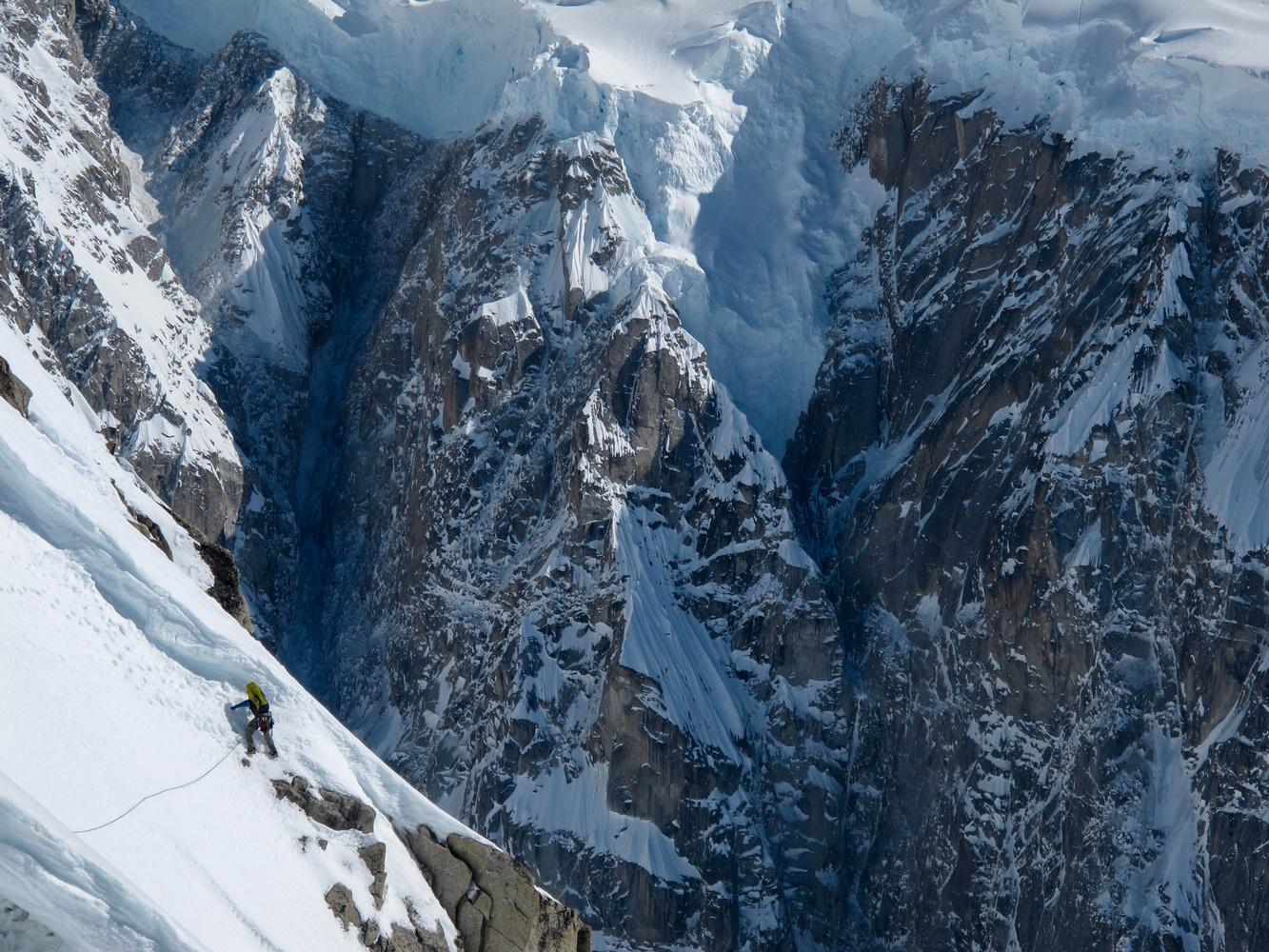 Big Mountain, Little Climber by clint helander