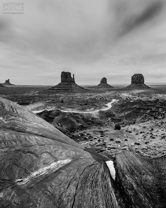 Monument Valley B&W by Matthew Saville