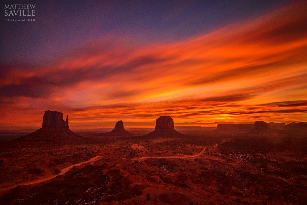 Monument Valley Sunrise Long Exposure by Matthew Saville