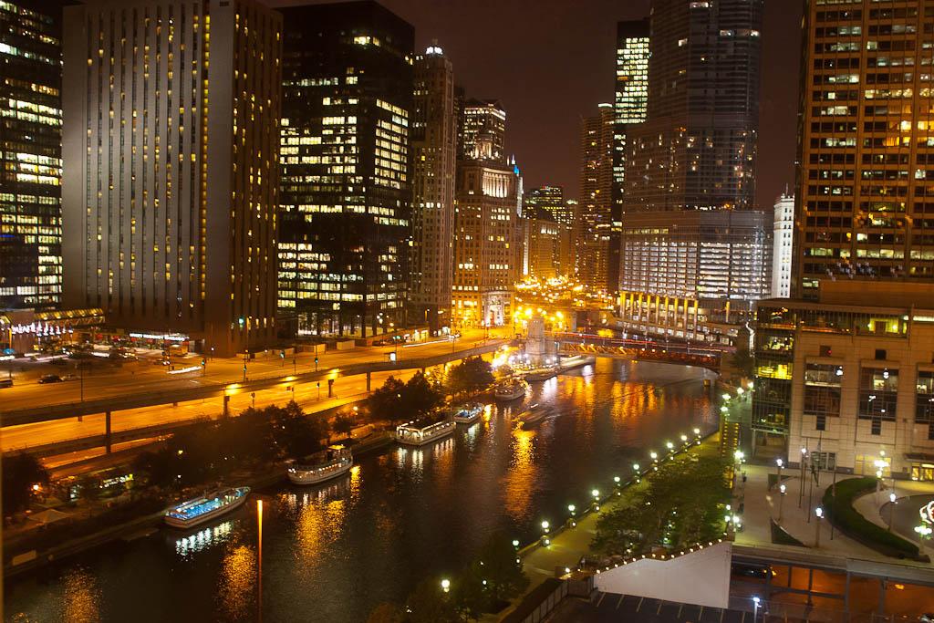 Chicago at Night by DAVID MCCRACKEN