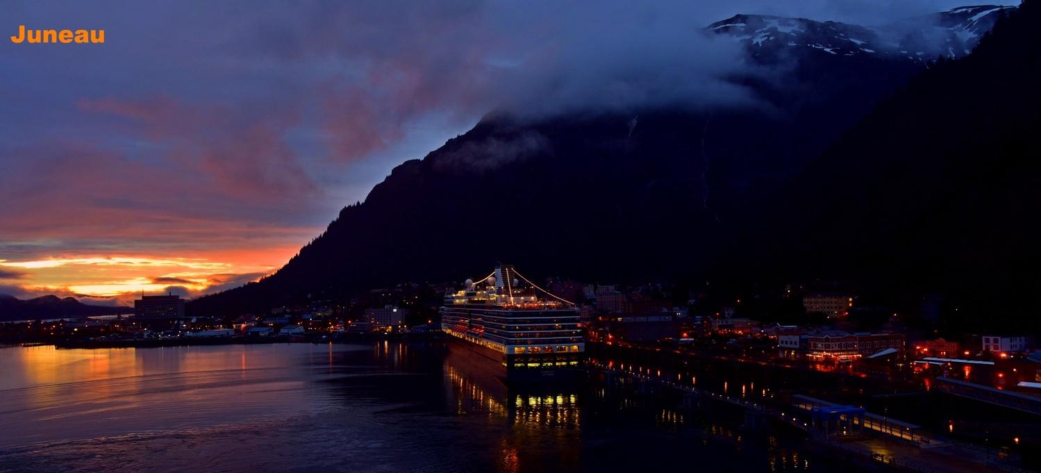 Eurodam in Juneau at Sunset by Brian Grant