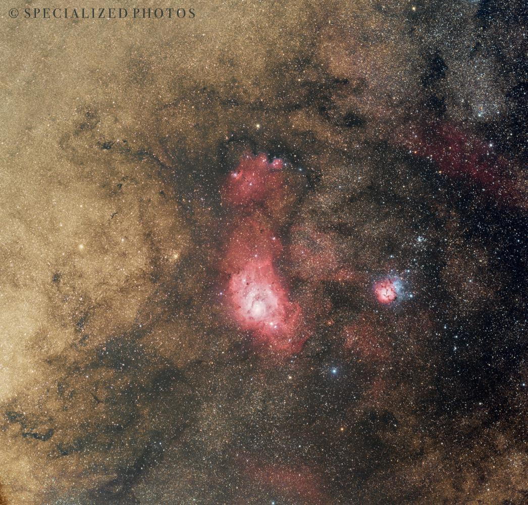 A closer look near the center of our Milky Way Galaxy by Robert Huerbsch
