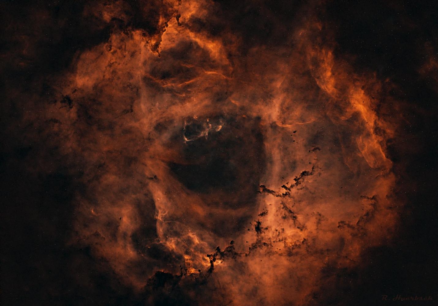 Starless Rosette Nebula by Robert Huerbsch