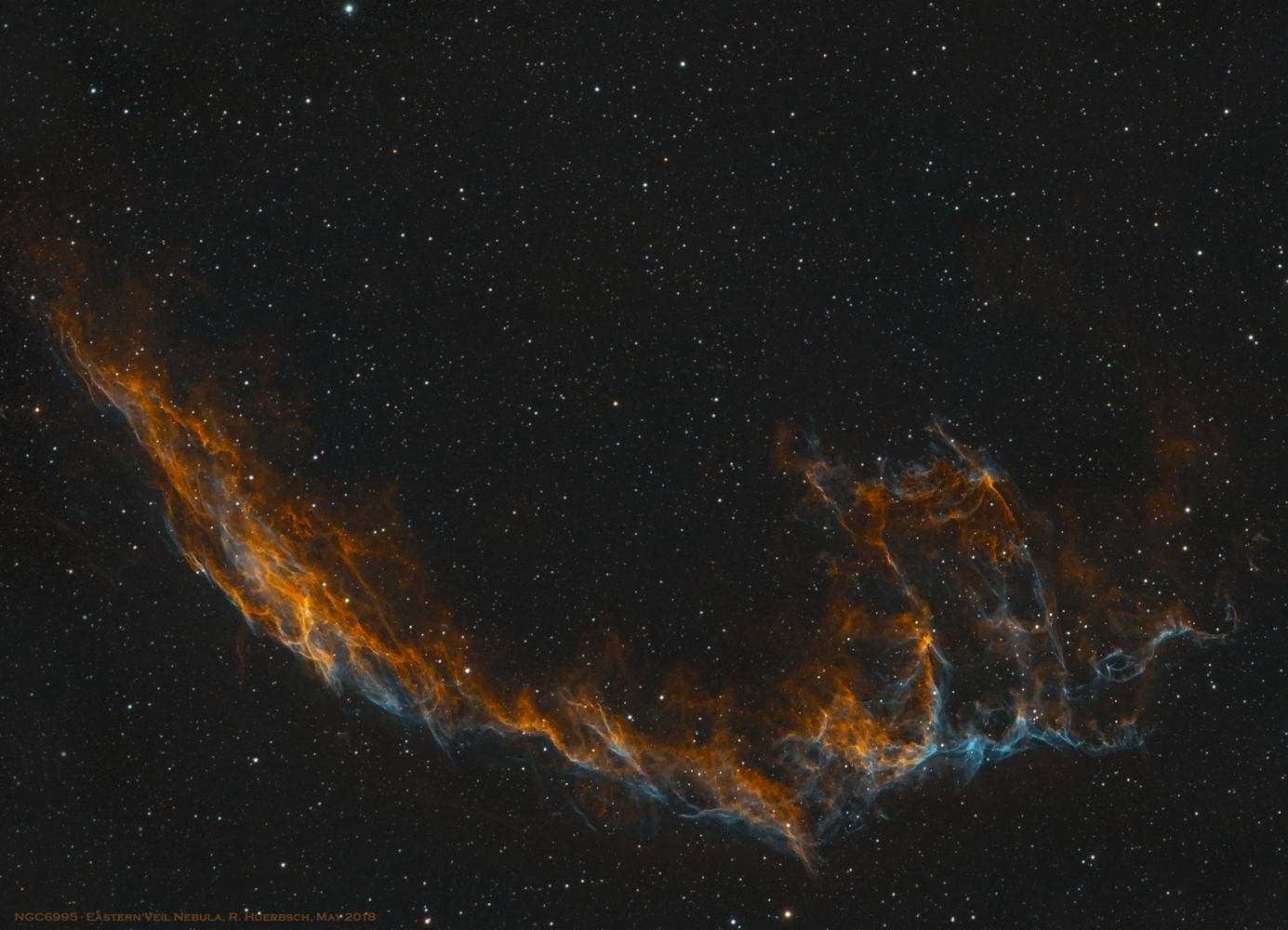 Eastern Veil Nebula by Robert Huerbsch