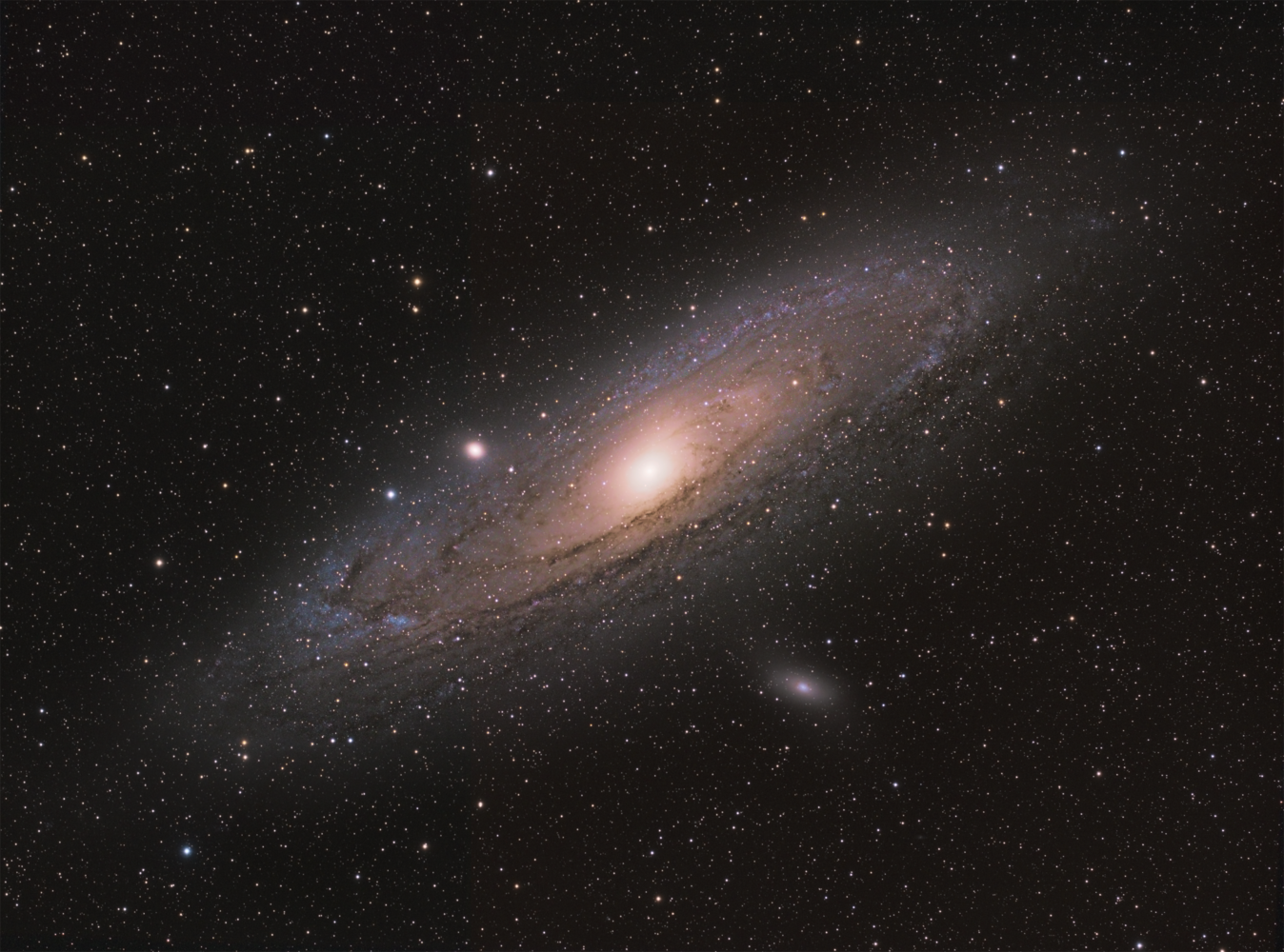 Andromeda! Messier 35 - our large spiral galaxy neighbor by Robert Huerbsch