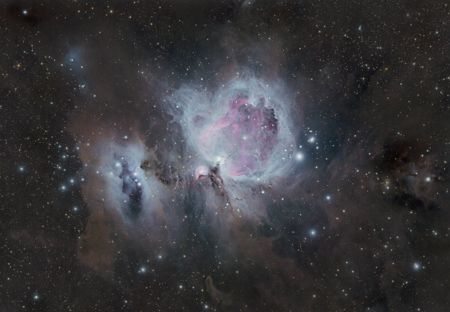 molecular clouds around the great nebula in Orion by Robert Huerbsch