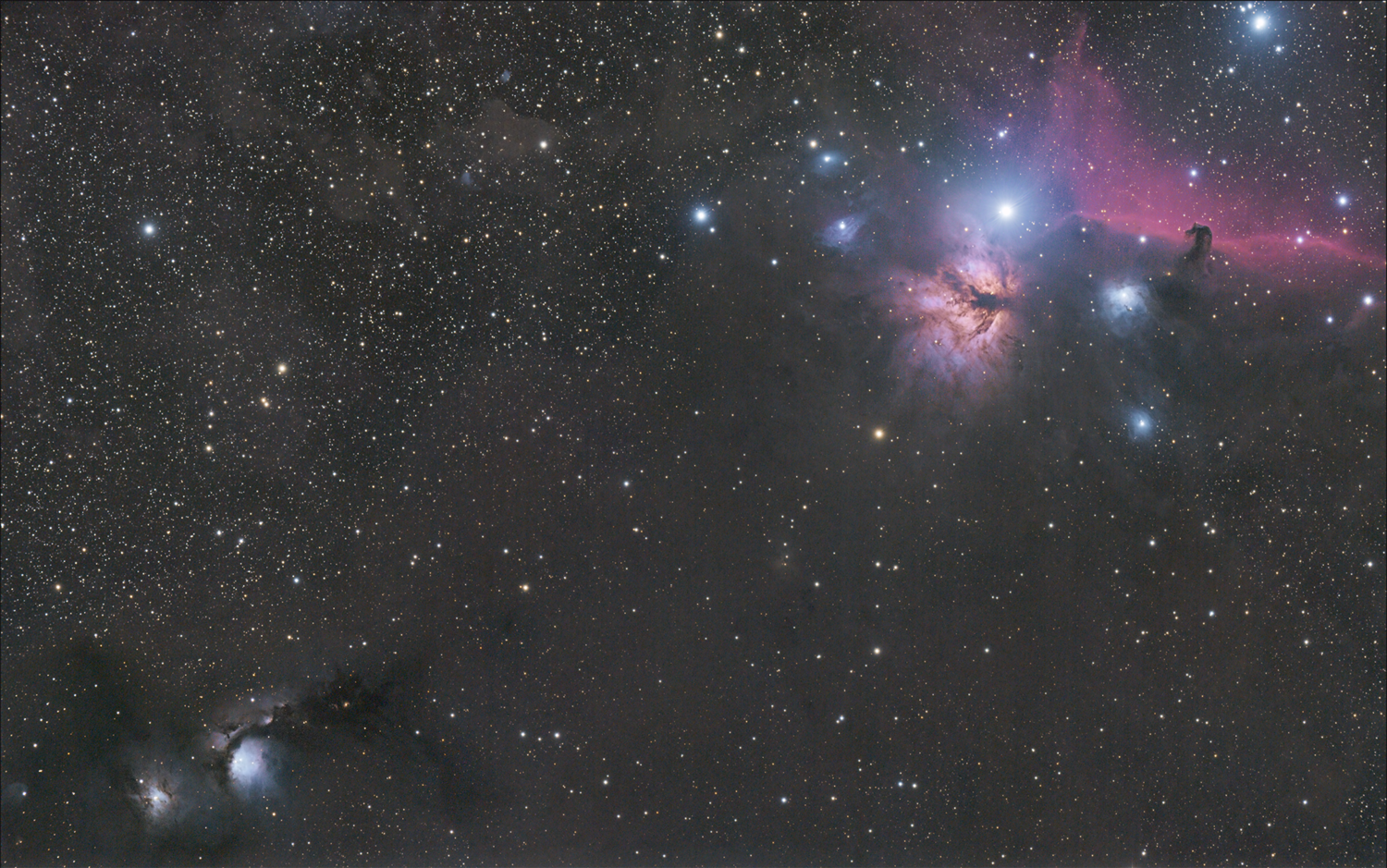 from Messier 78 to the Horse Head and the Flame by Robert Huerbsch