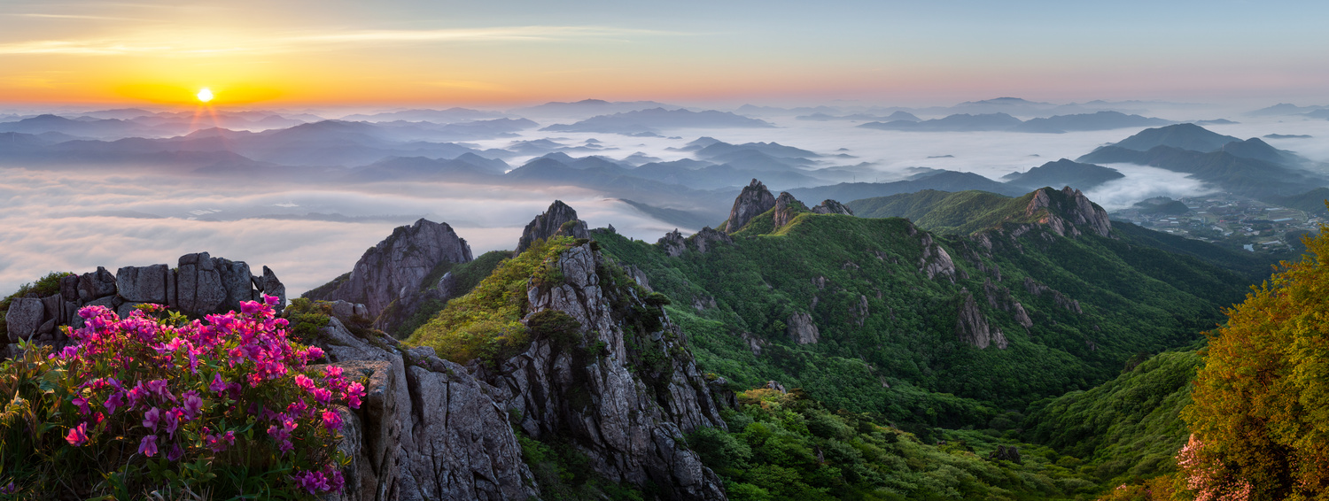 Flowering mountains of May by jaeyoun Ryu