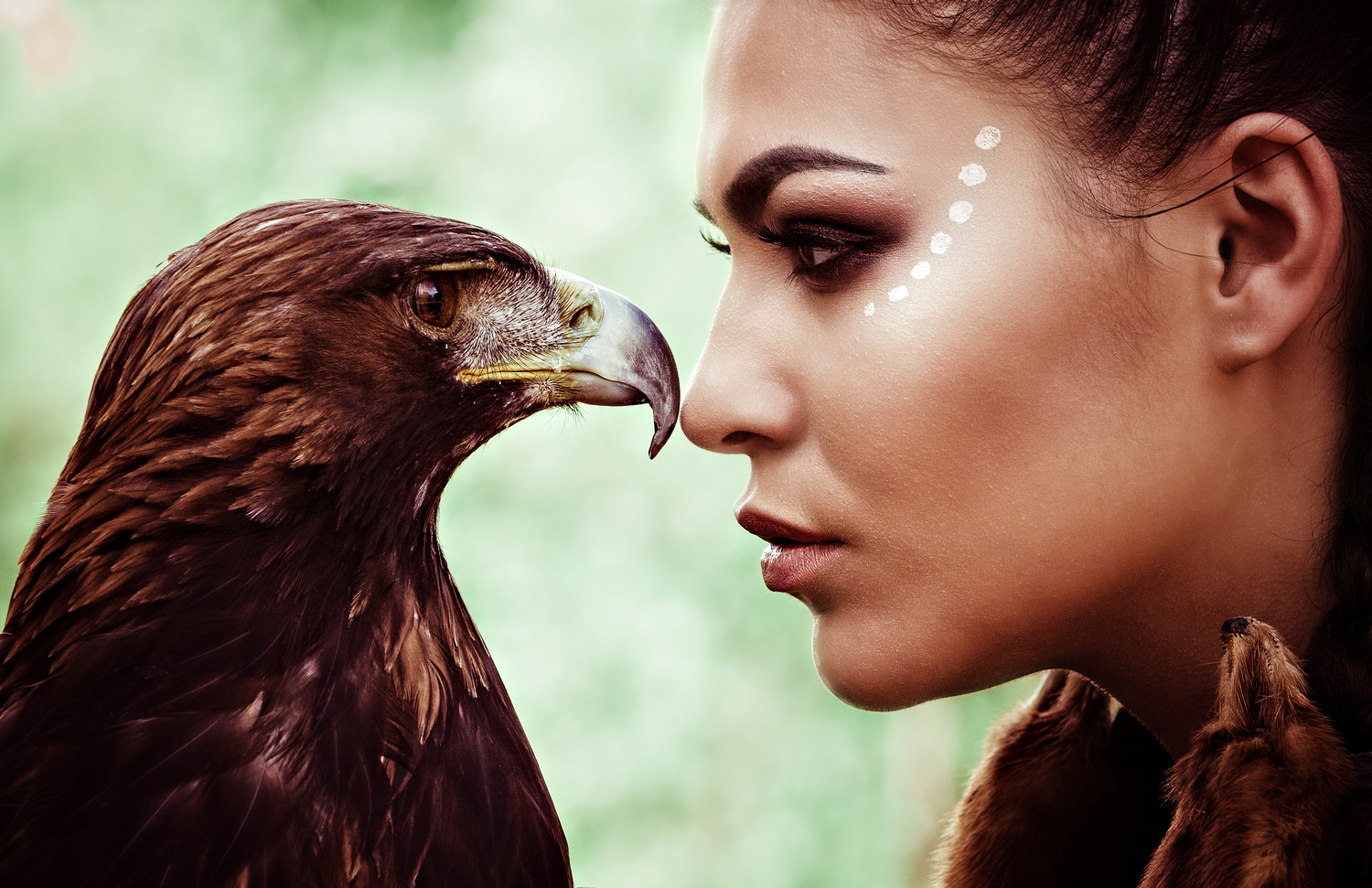 """""""Eagle Feather Flies with the Wind Woman"""" by Armand Flores"""
