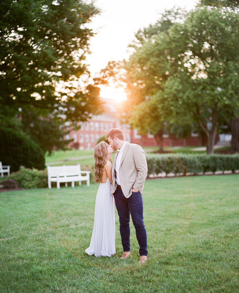 Film image of a couple during engagement session by Jeff Armstrong