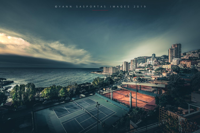 Monaco Tennis courts by Yann Sasportas