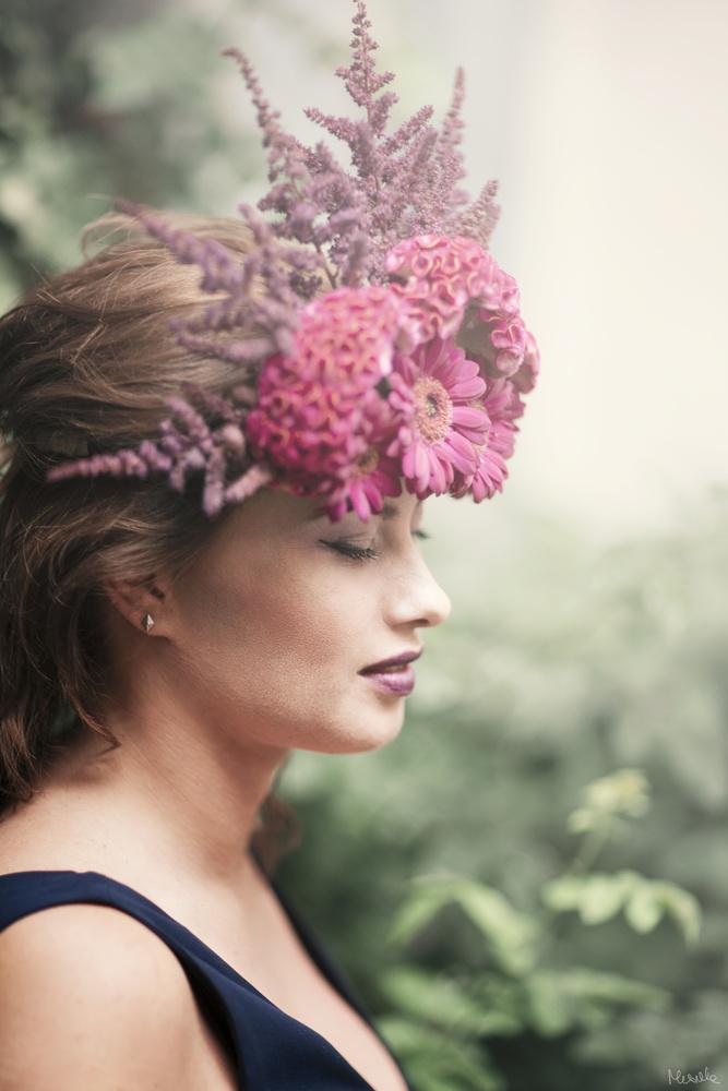 Ania decorated with flowers by Aleksandra Musiaka