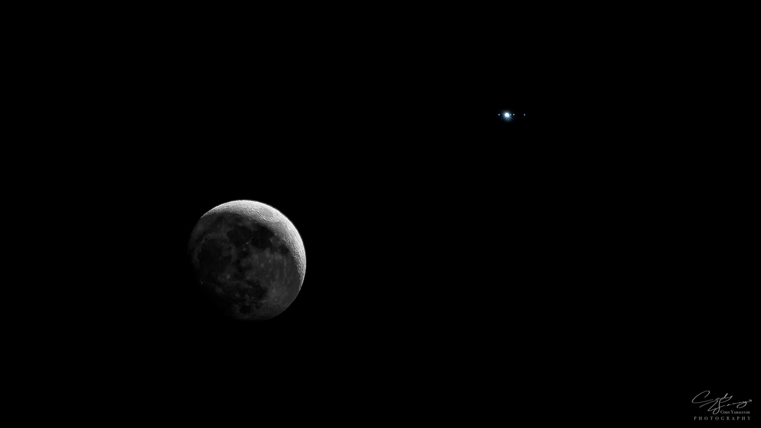 The Moon and Jupiter by Cody Yamaguchi