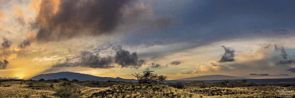 Mauna Kea and Mauna Loa at sun rise by Cody Yamaguchi