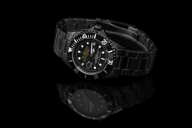 Black Timepiece by Alldaron Knewitz