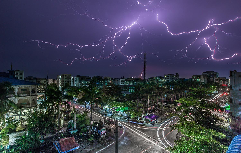 Thunder Storm Over Yangon by Oscar Kaung