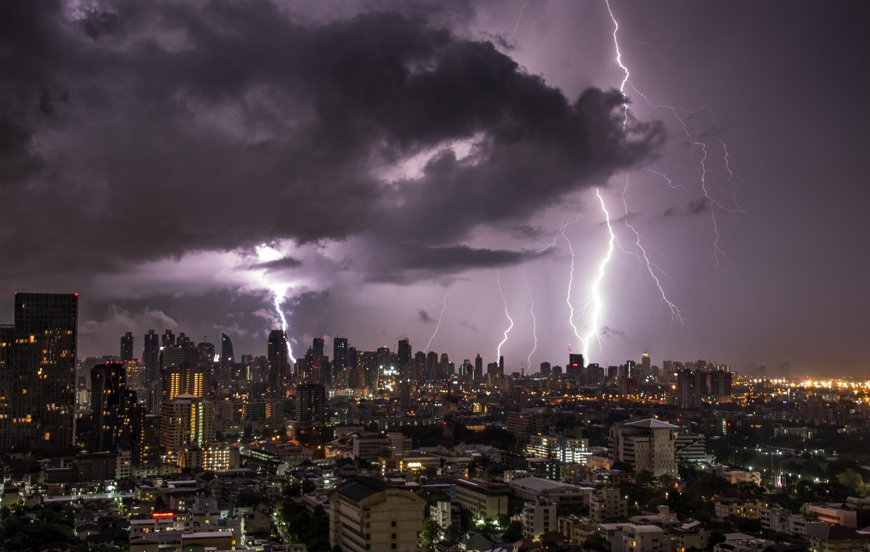 Bangkok storm by Peter Moss