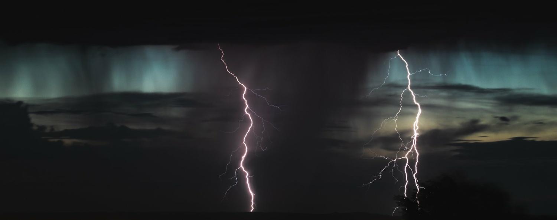 First lightning capture by Rob Burnside