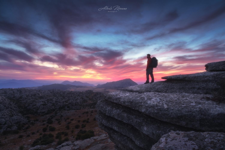 WATCHING THE SUNSET by Alberto Moreno