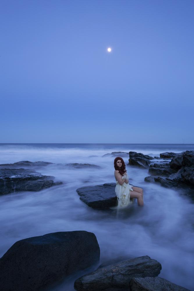 Blue Hour Self Portrait by Evelyn Sinclair