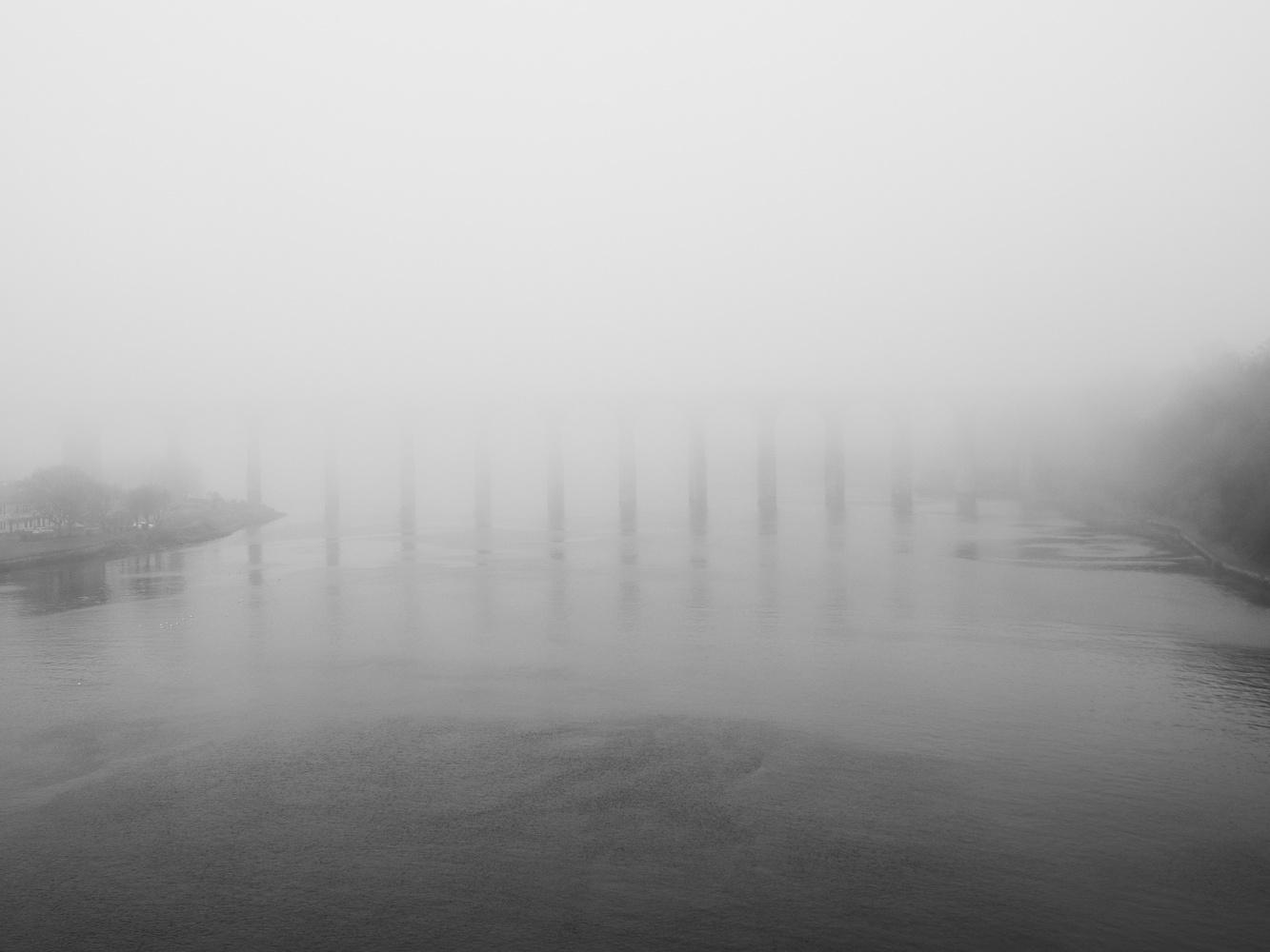 In the fog by Tomasz Kowalski