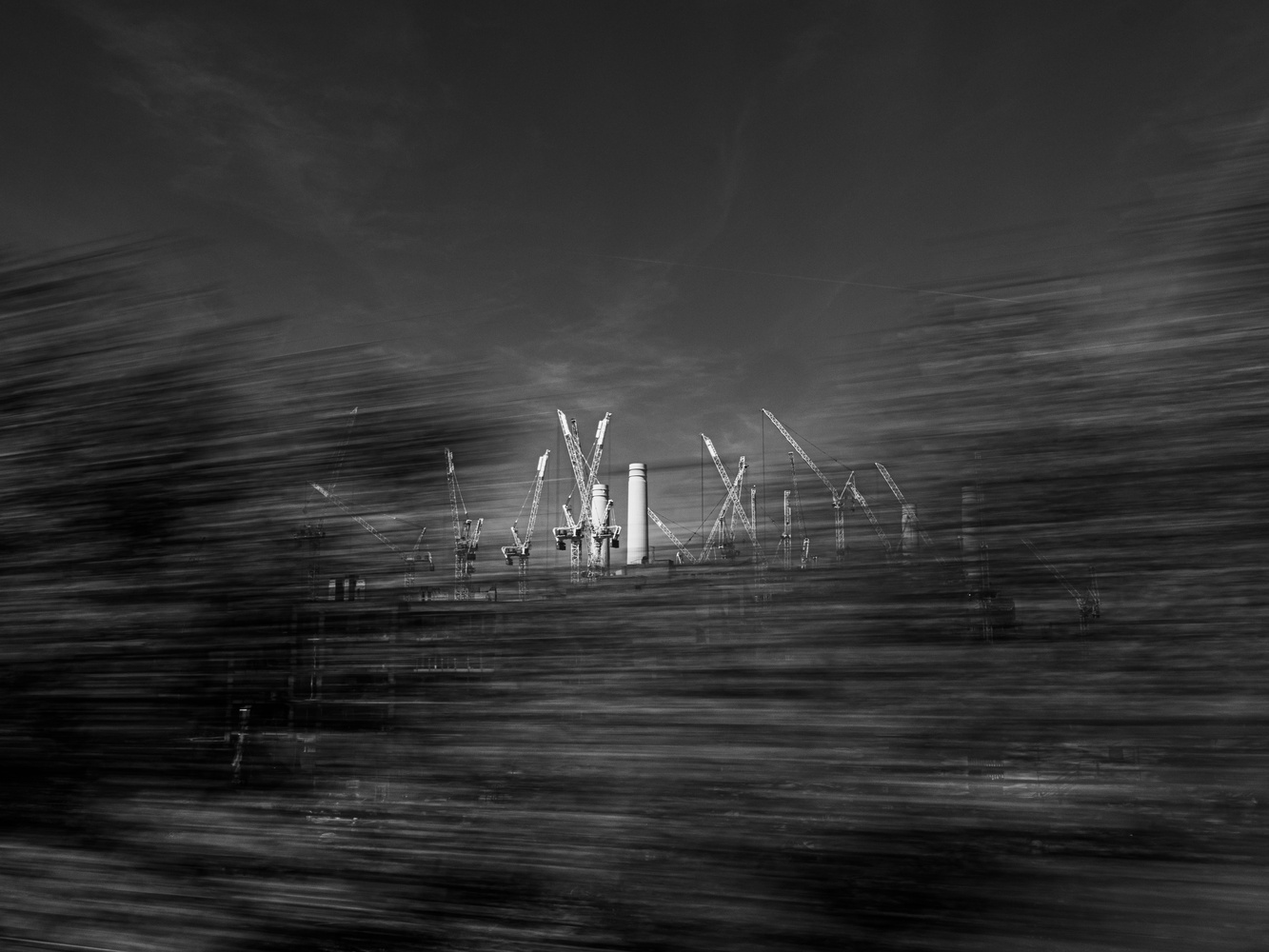 Battersea - View from the train by tomas doe