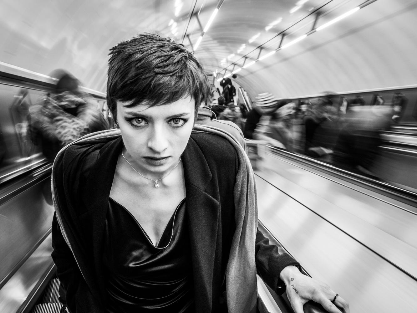 In the London crowd by Tomasz Kowalski