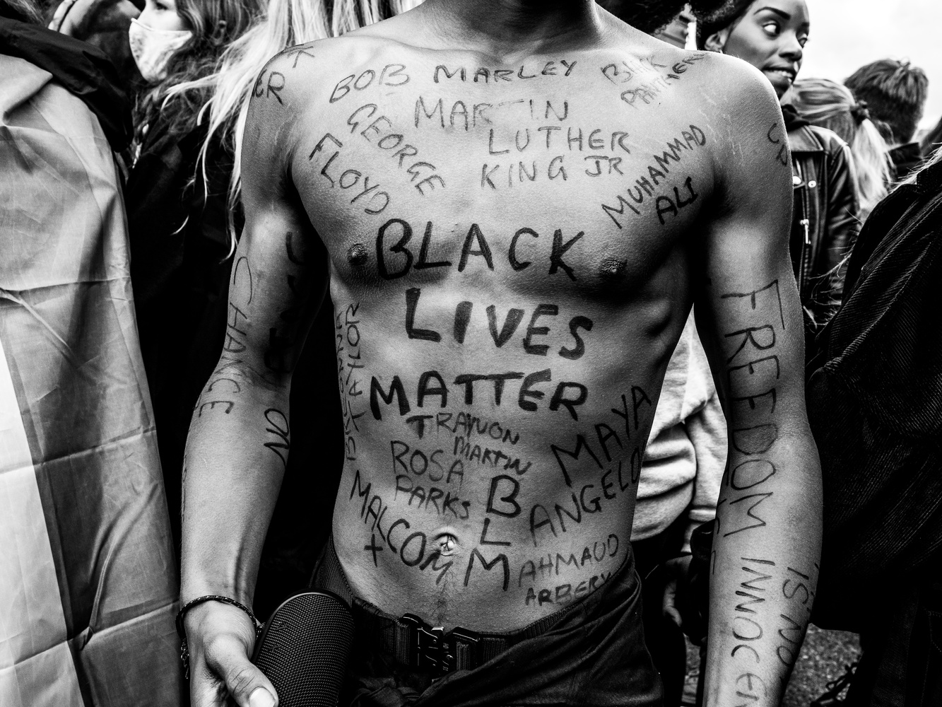 Black Lives Matter protest in London by Tomasz Kowalski