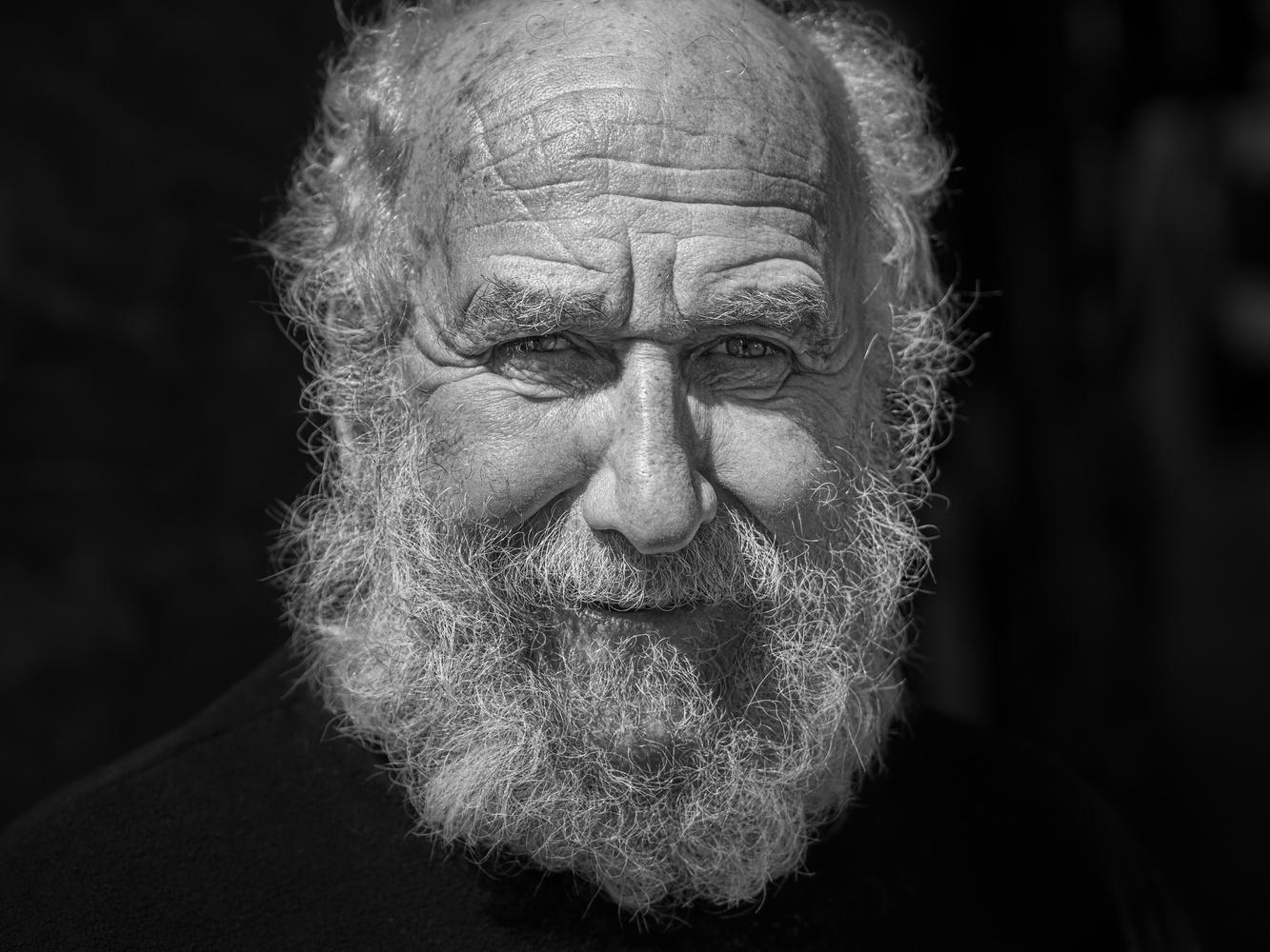 Street Portrait of Old Diver by Tomasz Kowalski