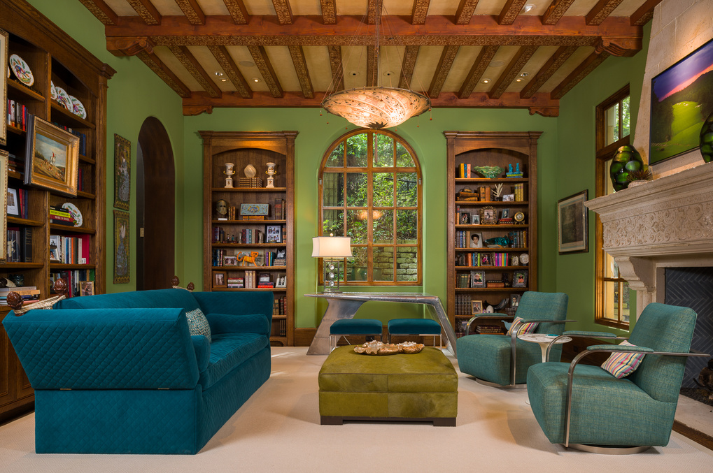 Warm Green Livingroom by Reagan Jobe