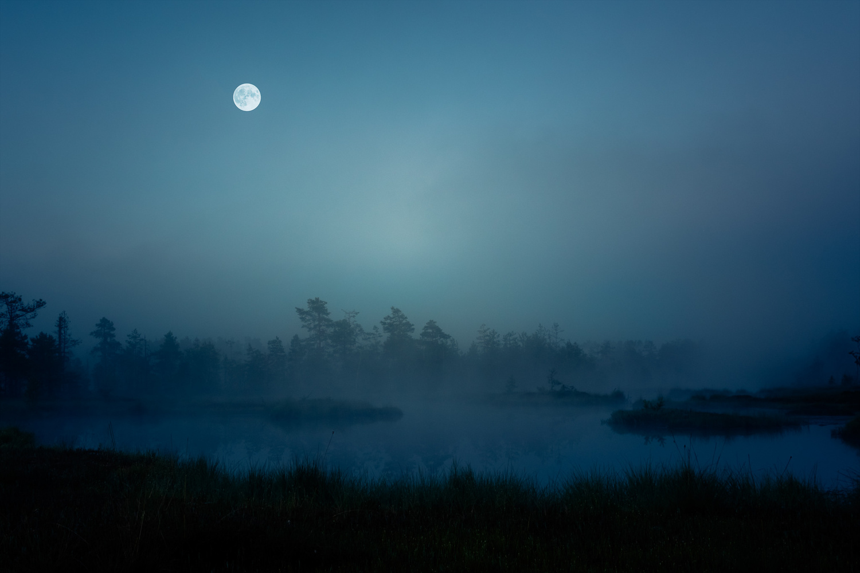 Midnight at an old tarn by Johan Lennartsson