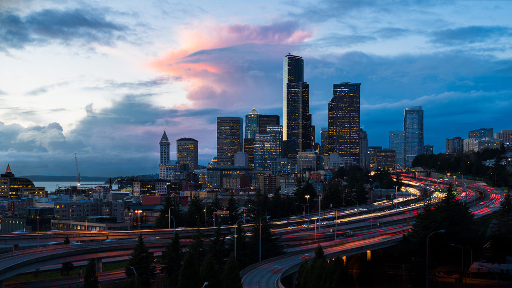 Seattle Sunset by Richard Rhee