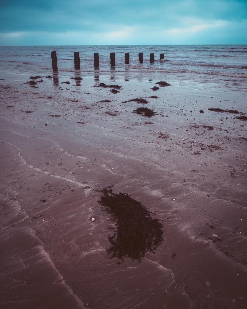 Cold, overcast Beach by Philip Stanton