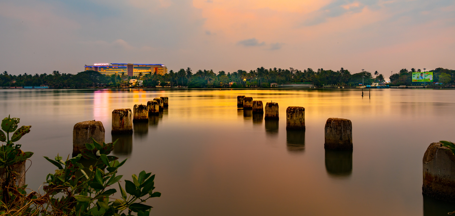Sunset of Pier post by Arvind Vallabh