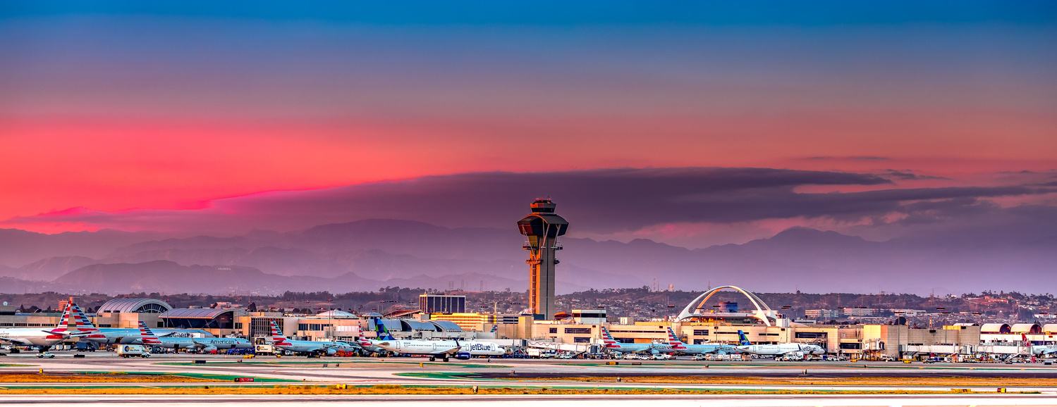 LAX Sunset by Arvind Vallabh