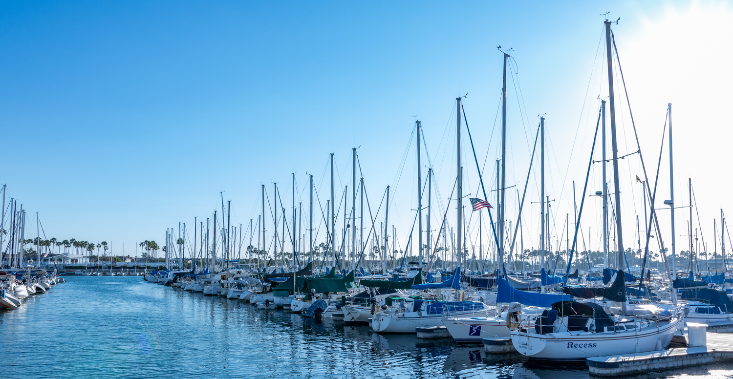 Sail Boats docked by Arvind Vallabh