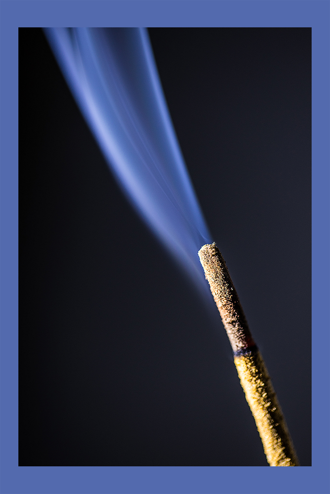 Incense Stick smoking by Arvind Vallabh
