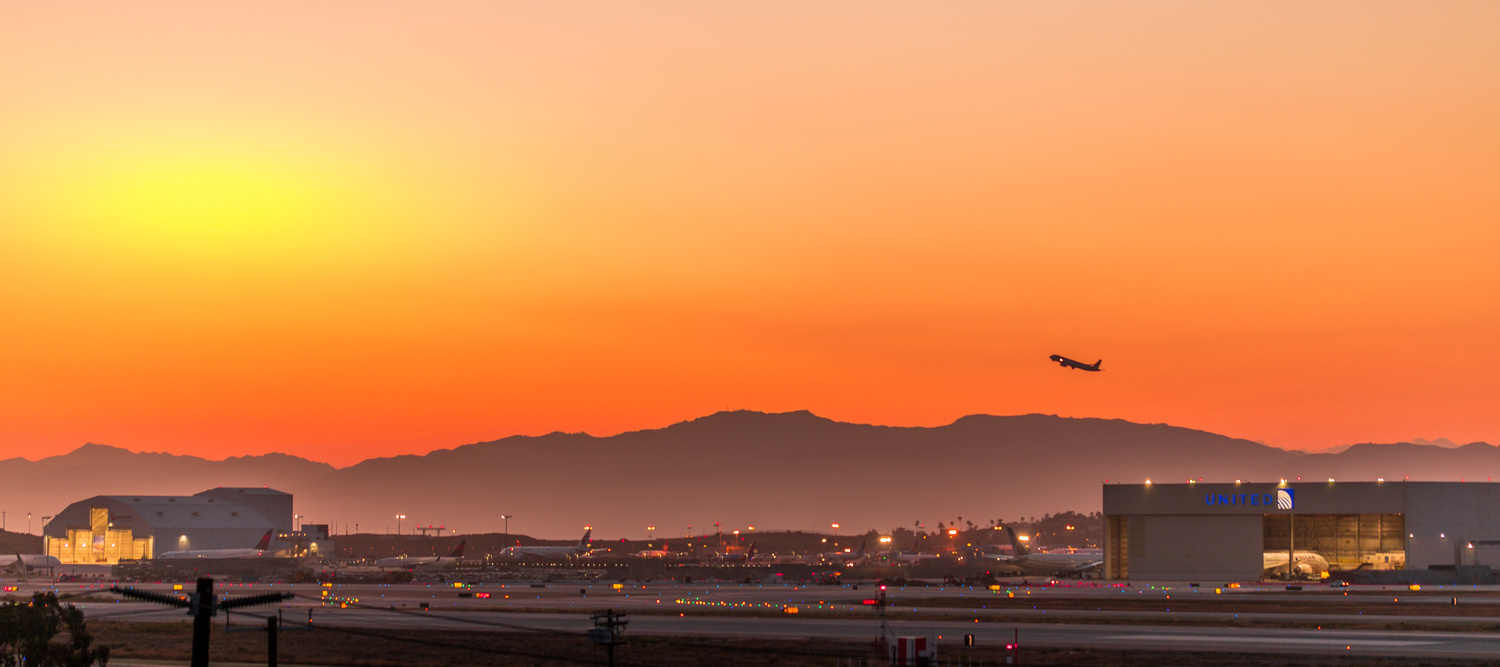Sunset over LAX by Arvind Vallabh