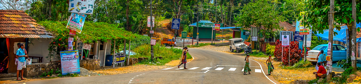 Kids Crossing Road by Arvind Vallabh