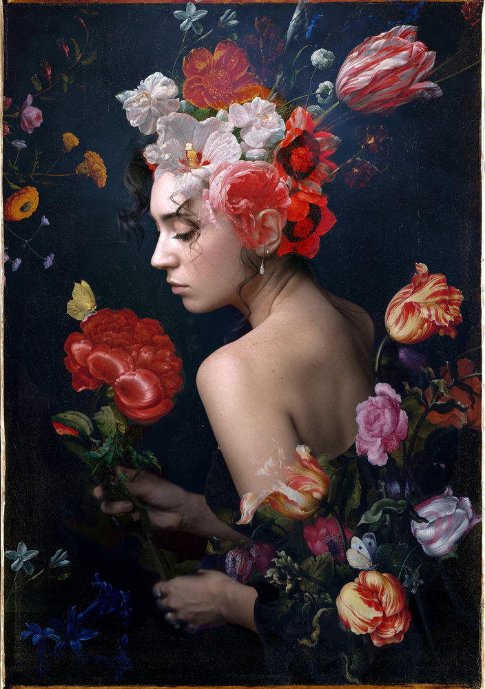 Experimental self-portrait by Irene Rudnyk