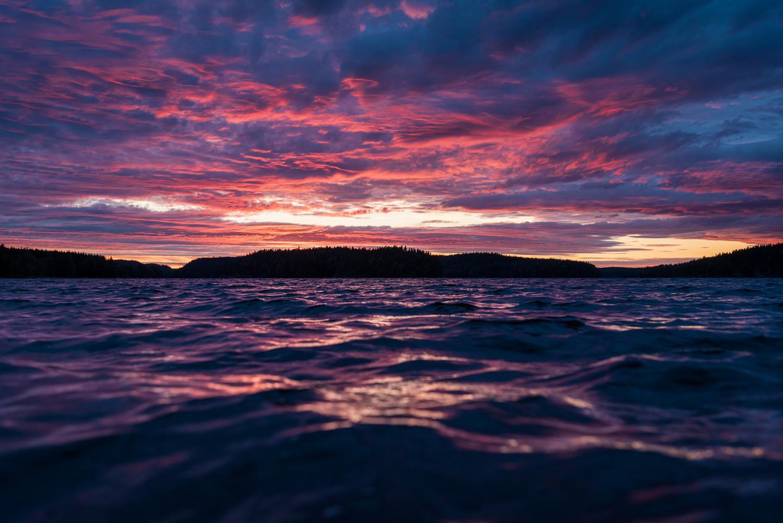 Finnish Sunset by Robert Gree